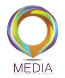 Reclamemedia Cirkel Logo Concept Stock Afbeelding