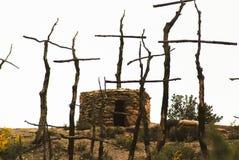 Reclamo bruciato foresta fotografia stock