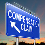 Reclamo della compensazione. Fotografia Stock