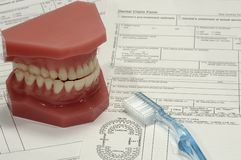 Reclamo dentale fotografie stock