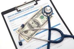 Reclamo di assicurazione medico Fotografia Stock Libera da Diritti