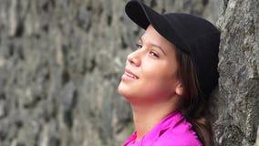 Reclinación adolescente cansada de la muchacha Fotografía de archivo libre de regalías