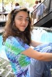 Reclinación adolescente de la muchacha Imagen de archivo