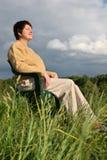 Reclinación de la mujer Fotografía de archivo libre de regalías