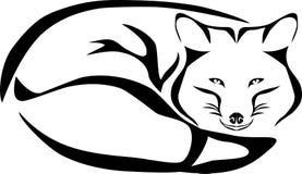 Reclinación del Fox Fotografía de archivo libre de regalías