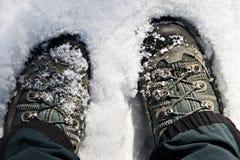 Reclinación en la nieve Imagen de archivo libre de regalías