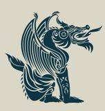 Reclinación del dragón Foto de archivo