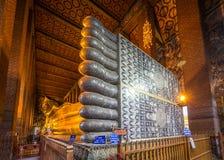 Reclination Buddha in Wat Poe, Bangkok, Thailand Royalty Free Stock Photos