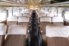 Reclined Bus Seats Stock Photo