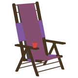 Recliner 3d side view illustration object. In vector Royalty Free Stock Photography