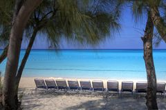 Recliners by the Sea royalty free stock photo