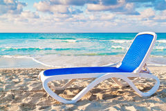 Reclining bed on the cuban beach of Varadero Stock Photography