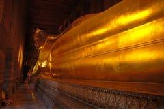Reclining Buddah. The very large reclining Buddah in Bangkok, Thailand Royalty Free Stock Images