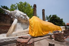 The Reclining Buddha Royalty Free Stock Photos