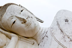 Reclining of buddha Royalty Free Stock Photo
