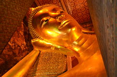 Reclining Buddha. In Wat Pho, Bangkok Royalty Free Stock Photos