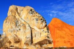 Reclining Buddha. At Wat Lokayasutharam, Ayutthaya, Thailand Stock Images