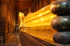 Reclining Buddha. Wat Po, bangkok royalty free stock photography