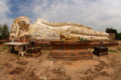 Reclining Buddha, Ayutthaya Royalty Free Stock Images