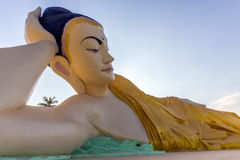 Reclining Buddha - Bago - Myanmar (Burma) Royalty Free Stock Photo