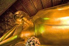 Reclining Buddha in Bangkok Royalty Free Stock Image
