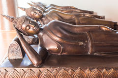 Reclining Buddha. In Chiang mai , Thailand Royalty Free Stock Photos