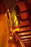 Reclining buddha closeup. Statue of reclining buddha in bangkok,Thailand Stock Image