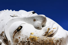 Reclining Buddha face at an Ancient Stock Photos