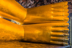 Reclining buddha feet Wat Pho temple bangkok thailand Royalty Free Stock Photography