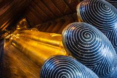 Reclining buddha foot Royalty Free Stock Images