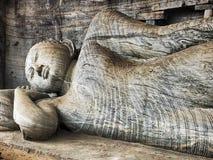 Reclining Buddha At Gal Vihare royalty free stock image