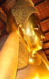 Reclining Buddha Gold Statue Royalty Free Stock Image