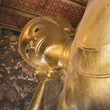 Reclining Buddha gold statue ,Wat Pho, Bangkok, Thailand Royalty Free Stock Photo