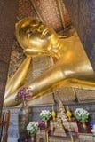 Reclining Buddha gold statue ,Wat Pho, Bangkok, Thailand Stock Photos