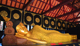 Reclining Buddha from head Royalty Free Stock Photography