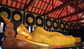 Reclining Buddha from head Royalty Free Stock Photography