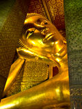 Reclining Buddha Image at Wat Pho Temple, Thailand Stock Photography