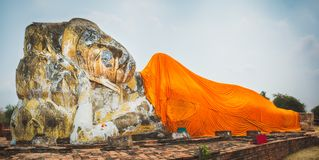 Free Reclining Buddha In Wat Lokayasutharam Royalty Free Stock Photos - 52127258