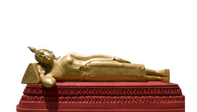 Reclining Buddha isolated on white Stock Photo