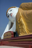 Reclining Buddha - Laykyun Sekkya - Myanmar Royaltyfri Foto
