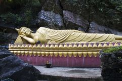 Reclining Buddha of Luang Prabang Stock Photo