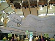 Reclining buddha maha muni buddha olknat Royalty Free Stock Photo