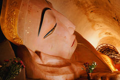 Reclining Buddha at Manuha Pagoda, Bagan, Myanmar Stock Photos