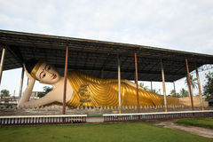 Reclining Buddha in the morning Stock Images