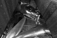 Reclining Buddha at Wat Pho. Stock Photo