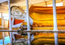 Reclining Buddha. Relining Buddha at a temple Bangkok, Thailand Royalty Free Stock Images