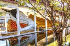 Reclining Buddha. Relining Buddha at a temple outside of Bangkok, Thailand Stock Photos