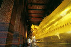 Reclining buddha sculpture Stock Photo