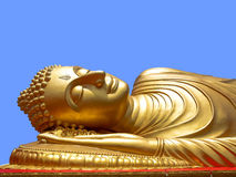 Reclining Buddha. In Songkla Thailand Royalty Free Stock Image