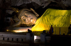 Reclining Buddha statue. Royalty Free Stock Photo